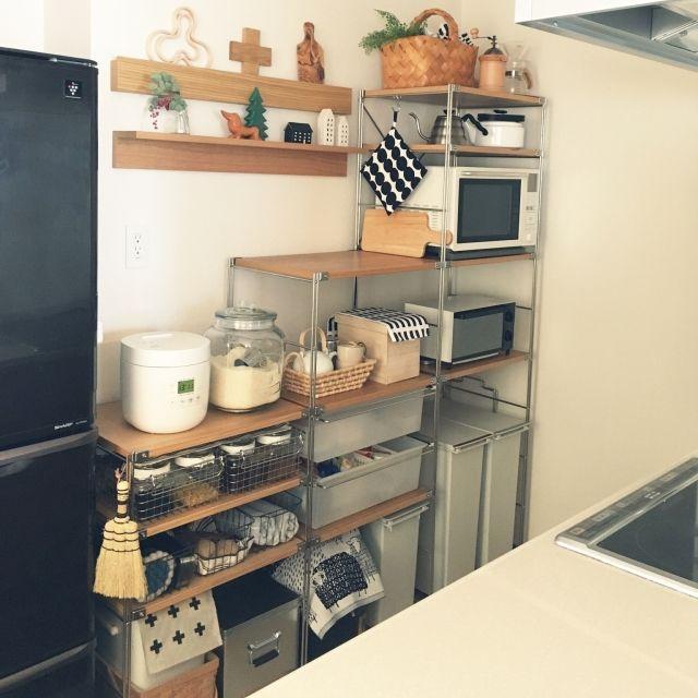 無印良品のスチールユニットシェルフ 部屋別収納 無印キッチン収納