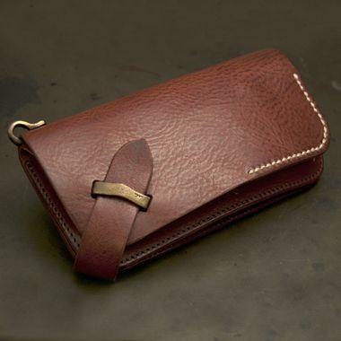 Хару [Italian] плечо старинные обработка Длинный кошелек [HC-522] | Ikenohata серебро кожаный салон