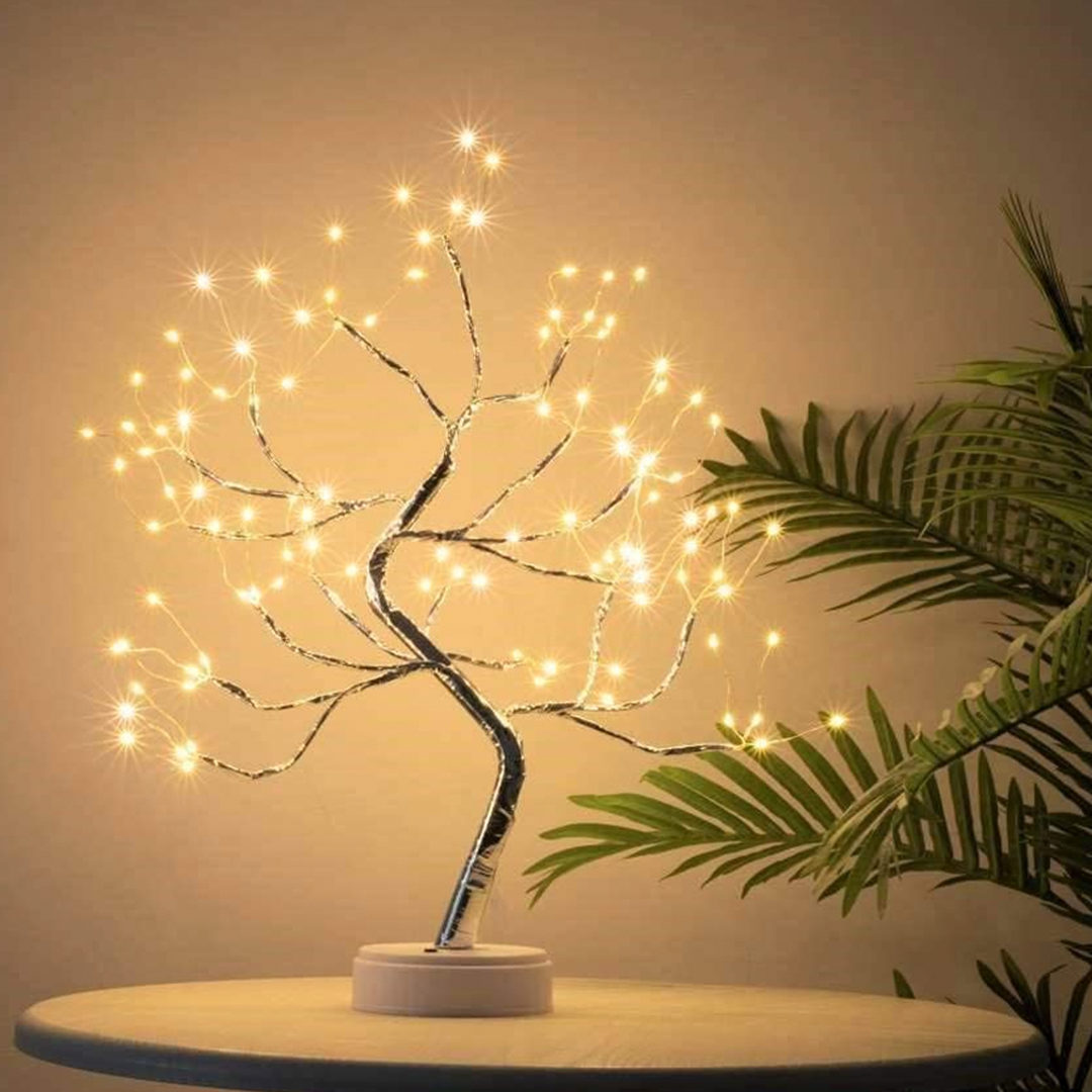 Pinple Lights Tree 2 Pack Of Cherry Blossom Desk Top Bonsai Tree Light With Low Voltage For Christmas Holiday Home Dec Tree Lamp Tree Lighting Fairy Lights