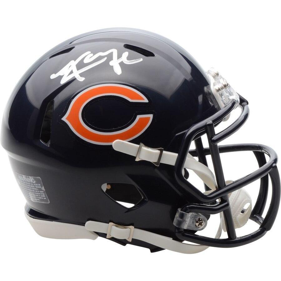 Khalil Mack Chicago Bears Autographed Nfl Football Speed Mini Helmet In 2020 Chicago Bears Football Helmets Helmet