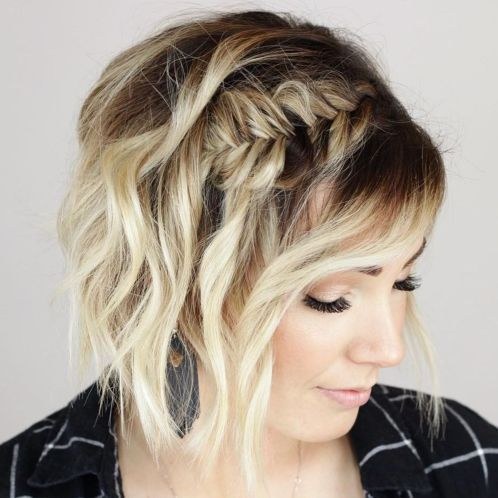 60 creative updo ideas for short hair in 2020  cute