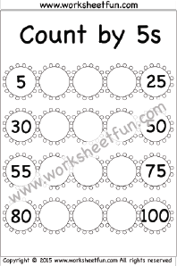 Skip Counting by 5 – Count by 5s – 1 Worksheet | Money ...