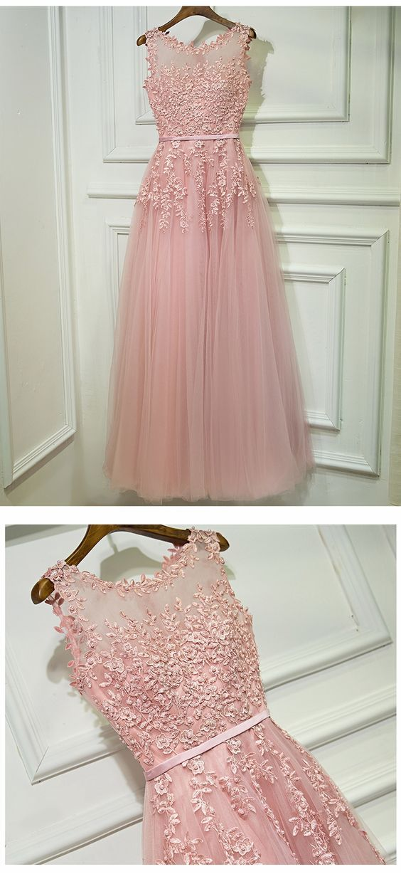 Gorgeous Pink Prom Dress, Prom Dresses For Teens, Graduation Party ...