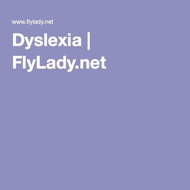 Dyslexia | FlyLady.net