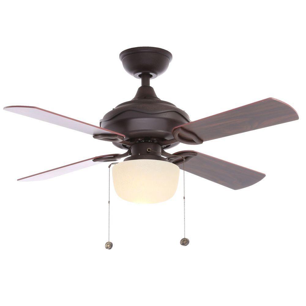 Hampton Bay Courtney 42 in. Indoor Oil Rubbed Bronze Indoor Ceiling ...