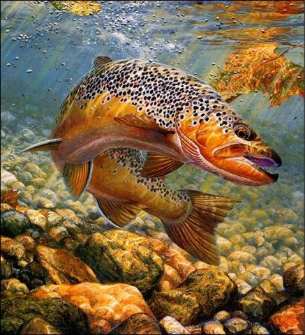 awesome fishing painting