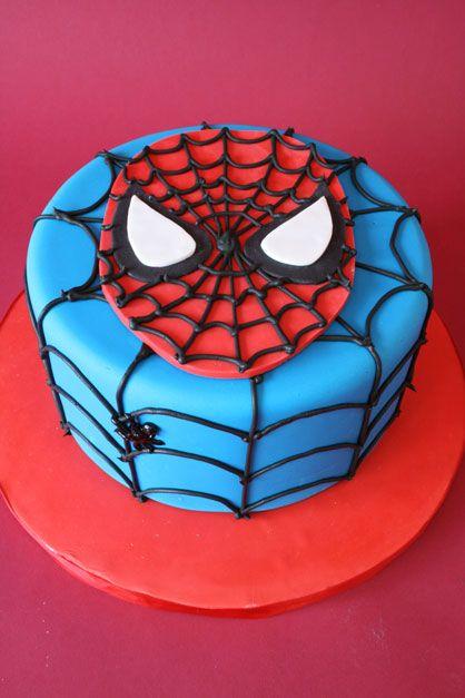 superhero birthday cake | Mod Cakery - Boy Birthday Cakes - Spider ...