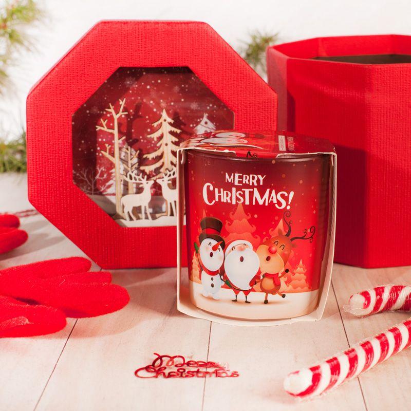 Zestaw Na Swieta Swieczka Cukrowa Laska Pudelko 3d Christmas Ornaments Novelty Christmas Merry