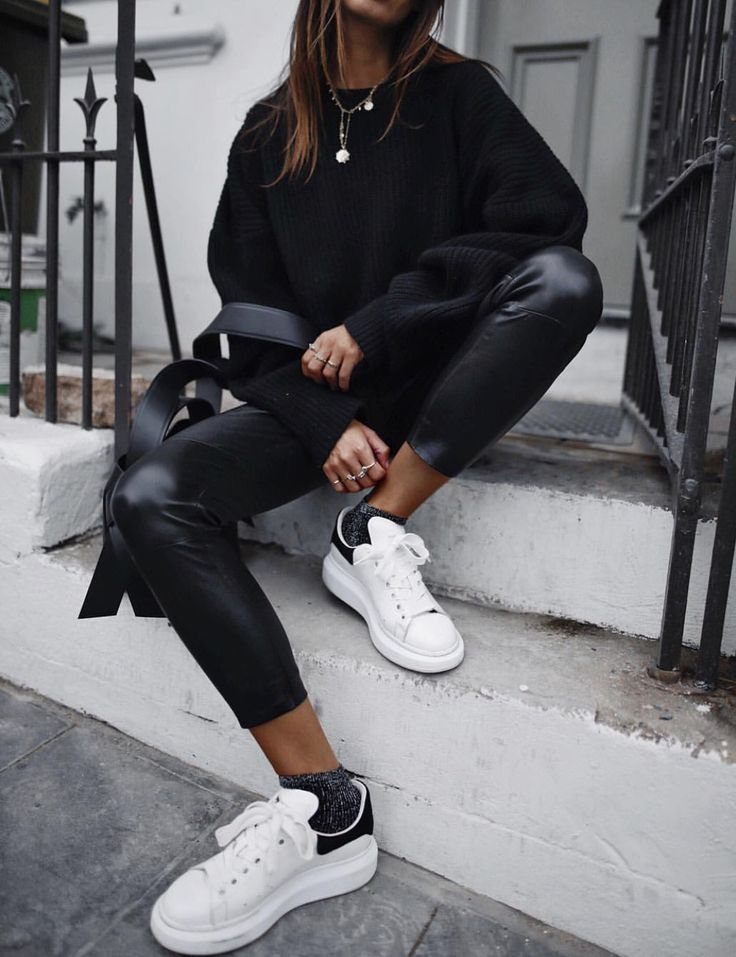How to wear your leather boyfriend pants with your favourite coat