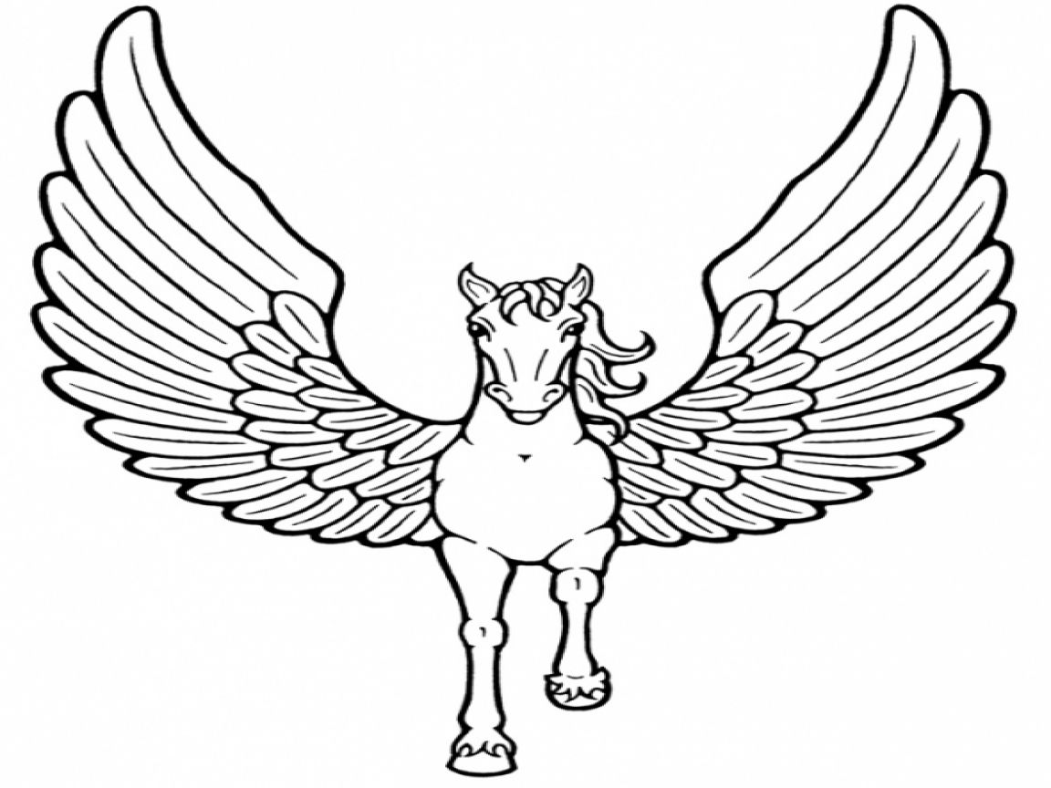 Coloring Pictures Of Unicorns With Wings   Horse coloring ...