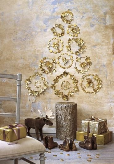 Golden Wall Tree with Stump