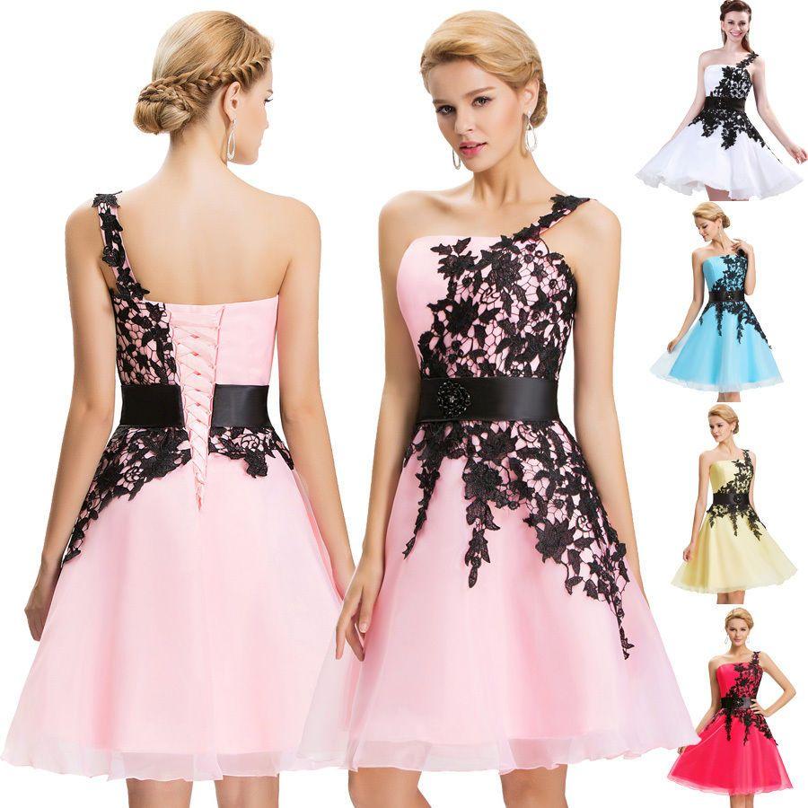 Kurz Minikleid Abendkleid Ballkleid Cocktailkleid