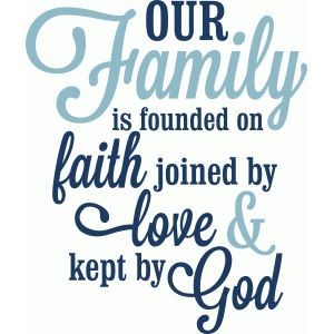 Silhouette Design Store: Our Love Is Founded On Faith Love God
