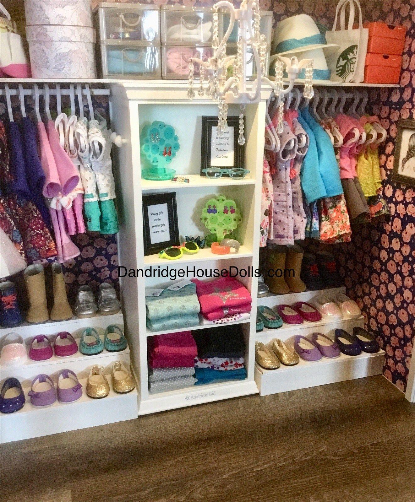 American Girl Doll Truly Me Dollhouse Emma & Ella's Walk-In Closet   Dandridge House Dolls #americangirldollcrafts