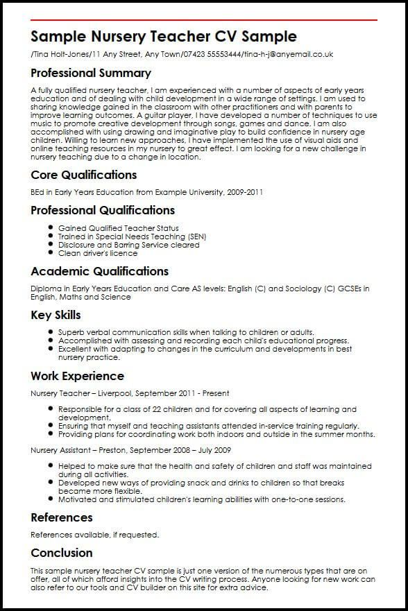 79 Unique Photos Of Sample Resume For Nursery Teachers In India Check More At Https Www Ourpetscrawley Com Teacher Resume Teacher Cv Teacher Resume Template