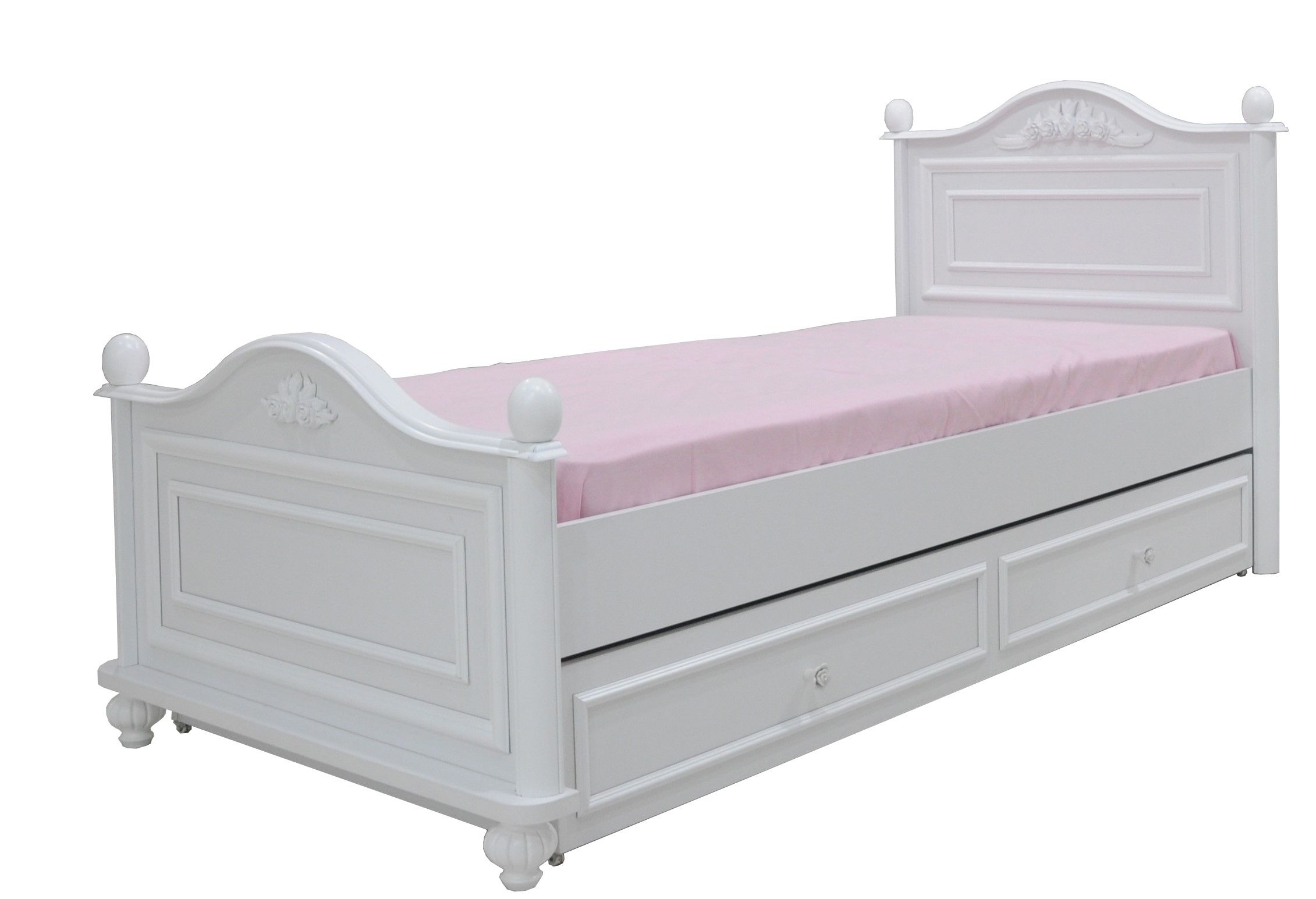 Bella twijfelaar bed wit meisjesbed met logeerbed slaapkamer