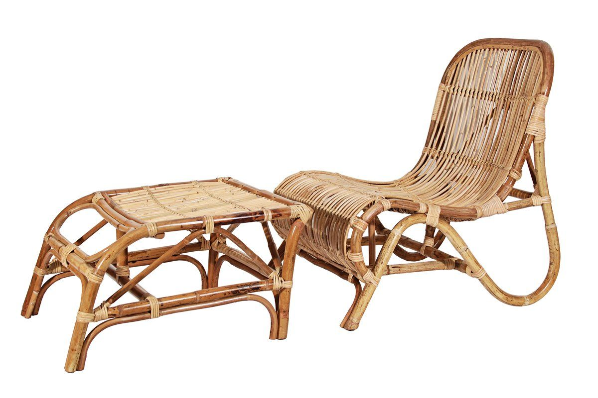 Lounge chair and ottoman with images wicker lounge