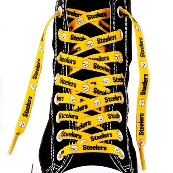 Pittsburgh Steelers Shoelaces-Gold - Official Online Store