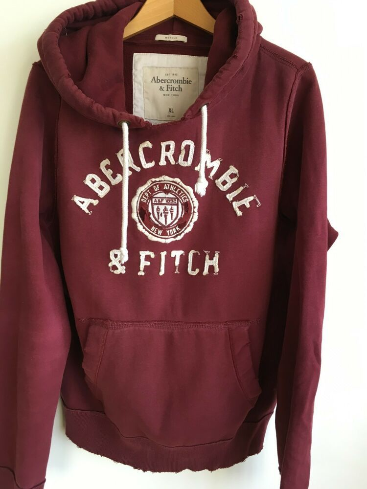 ABERCROMBIE & FITCH MENS XL 42 44 TOP DESIGNER HOODED