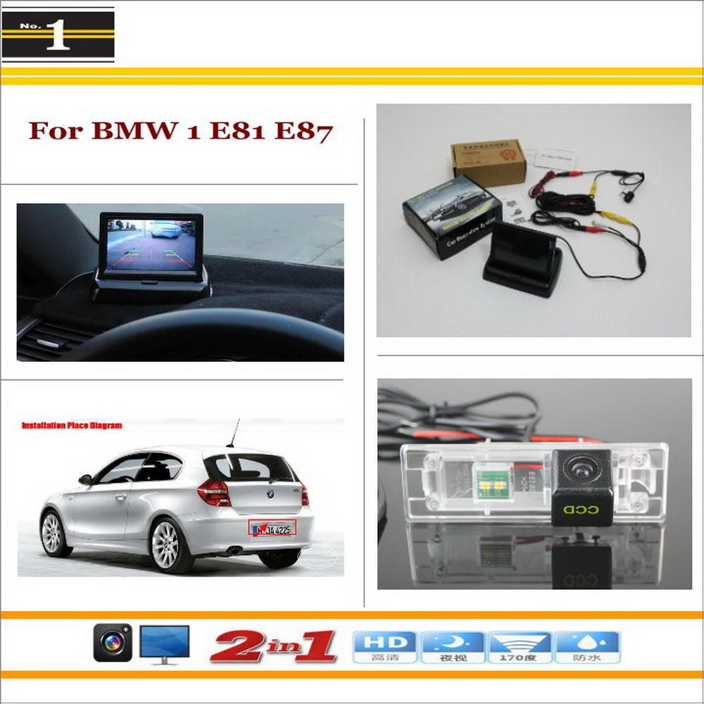 Car Reverse Backup Rear Camera 4 3 Tft Lcd Screen Monitor 2 In 1 Rearview Parking System For Bmw 1 E81 Car Parking Camera Benz E Class Rear View Camera