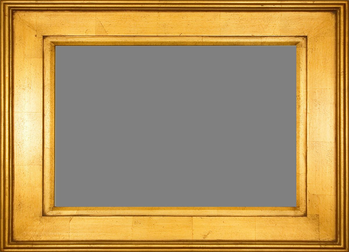 Plein Air Gold Frame With Red Distress Marks Throughout, A