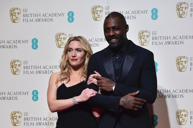 She then looked incredibly (understandably) smug on the arm of Idris Elba after they presented the award for Outstanding British Film. | Kate Winslet Had The Time Of Her Life At This Year's BAFTAs