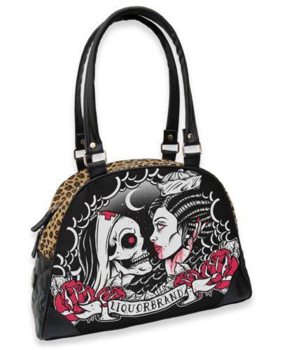 Liquor Brand Damen SAILOR NURSE Handtasche/Bags.Tattoo,Pin up,Biker,Custom Style