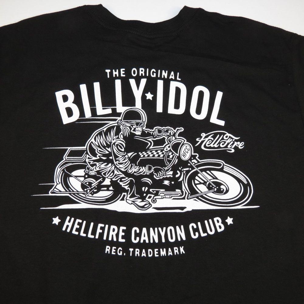 T shirt black rebel motorcycle club - Hellfire Canyon Club The Original Billy Idol Motorcycle Club Racing T Shirt Sz L Alstyleapparel