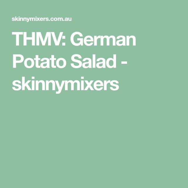 German Potato Salad Recipe Skinnymixers