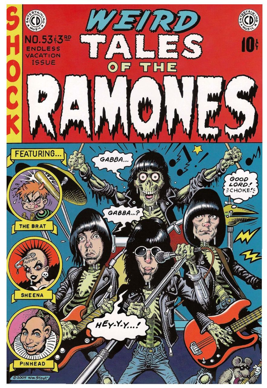 Weird Tales Of The Ramones Illustration By William Stout