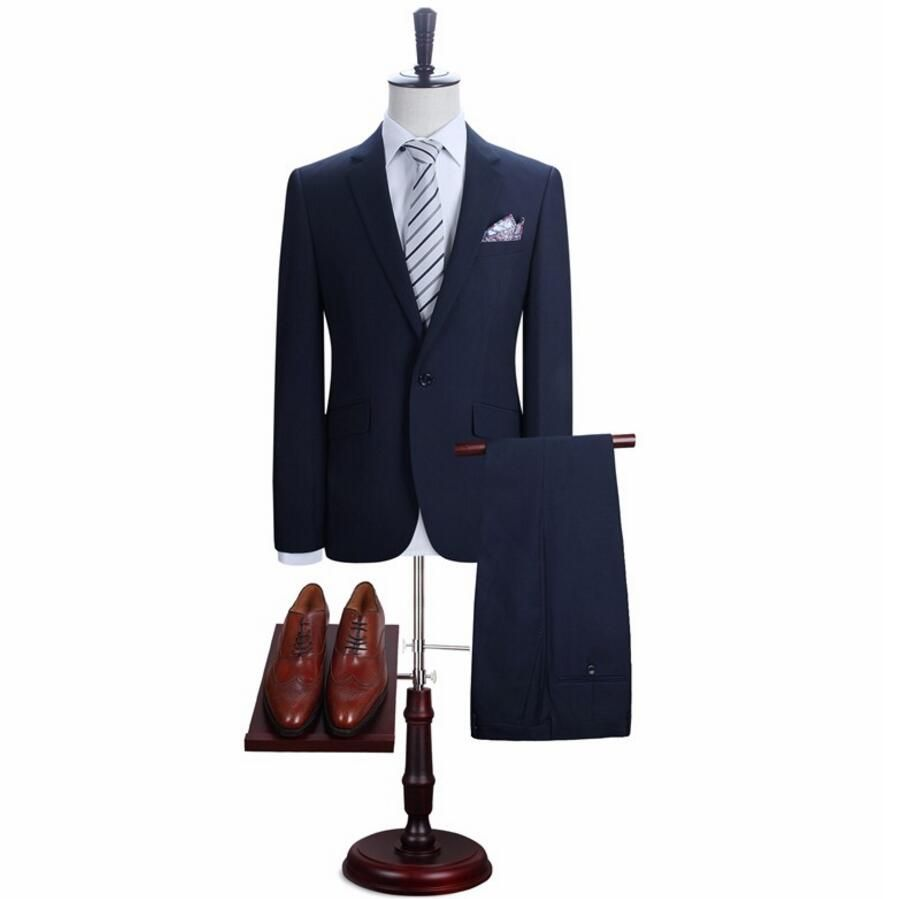 Click to buy ucuc menus suit formal wedding a grain of buckle man suit