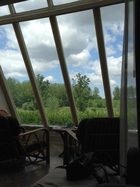 Iedere dag genieten van uitzicht over bos Nieuw Wulven