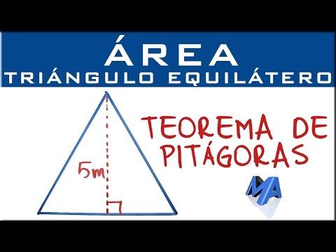 Teorema De Pitágoras Area Del Triángulo Equilátero Conocida Su Altra Youtube Teorema De Pitagoras Educacion Matematicas Funciones Matematicas