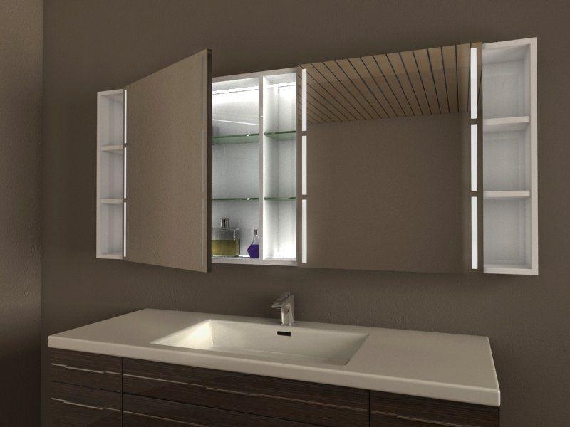 Unverwechselbarer großer Bad Spiegelschrank mit Beleuchtung, ideal - spiegelschrank fürs badezimmer