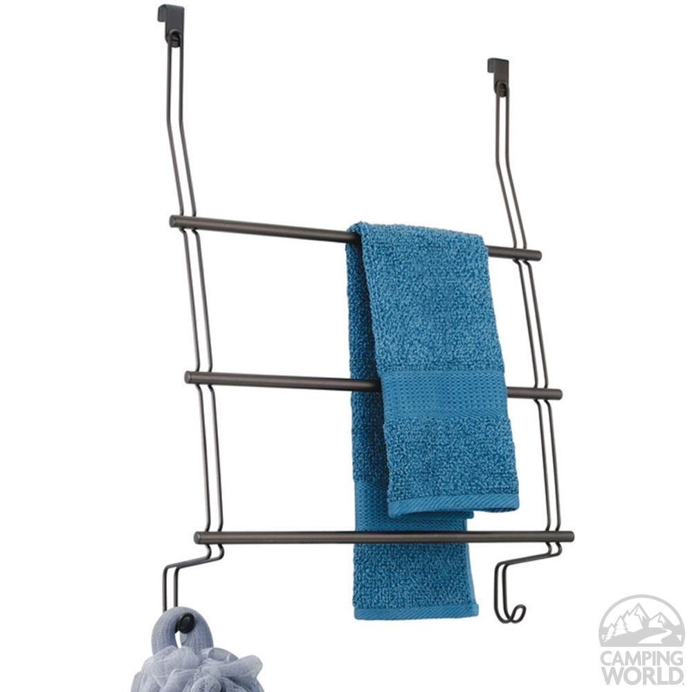 Over Door 3 Bar Towel Rack - Bronze | RV Storage Solutions ...