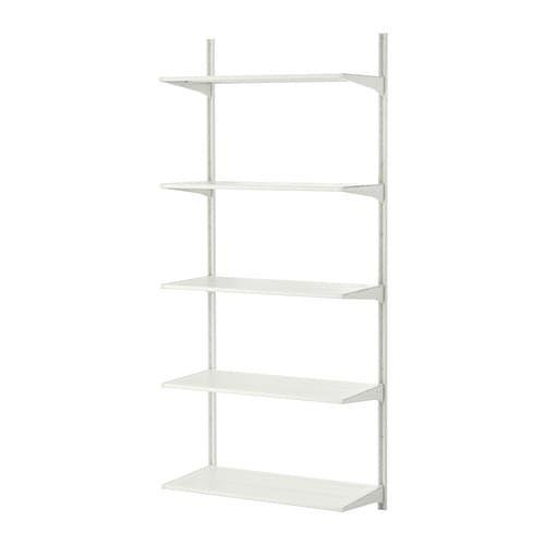 Algot Szyna ściennapółki Metal Biały Garderoba Ikea