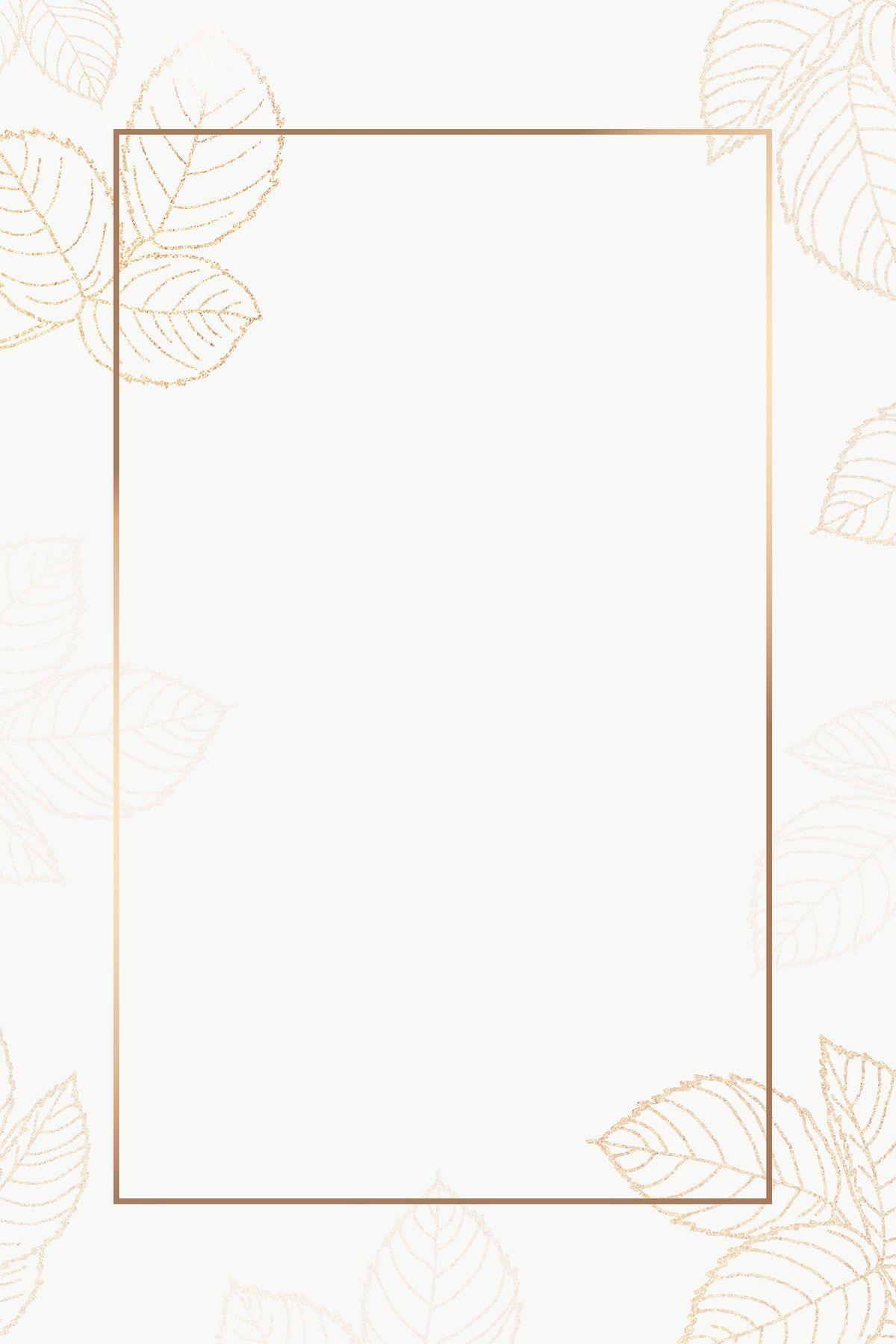 Download free png of Leafy golden rectangle frame design element  by Adjima about frame, gold frames, gold, floral, and frame png 2409349