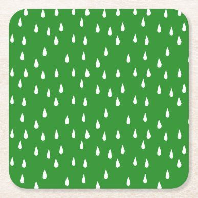 Forest Green Whimsical White Raindrops Throw Pillow | Zazzle.com