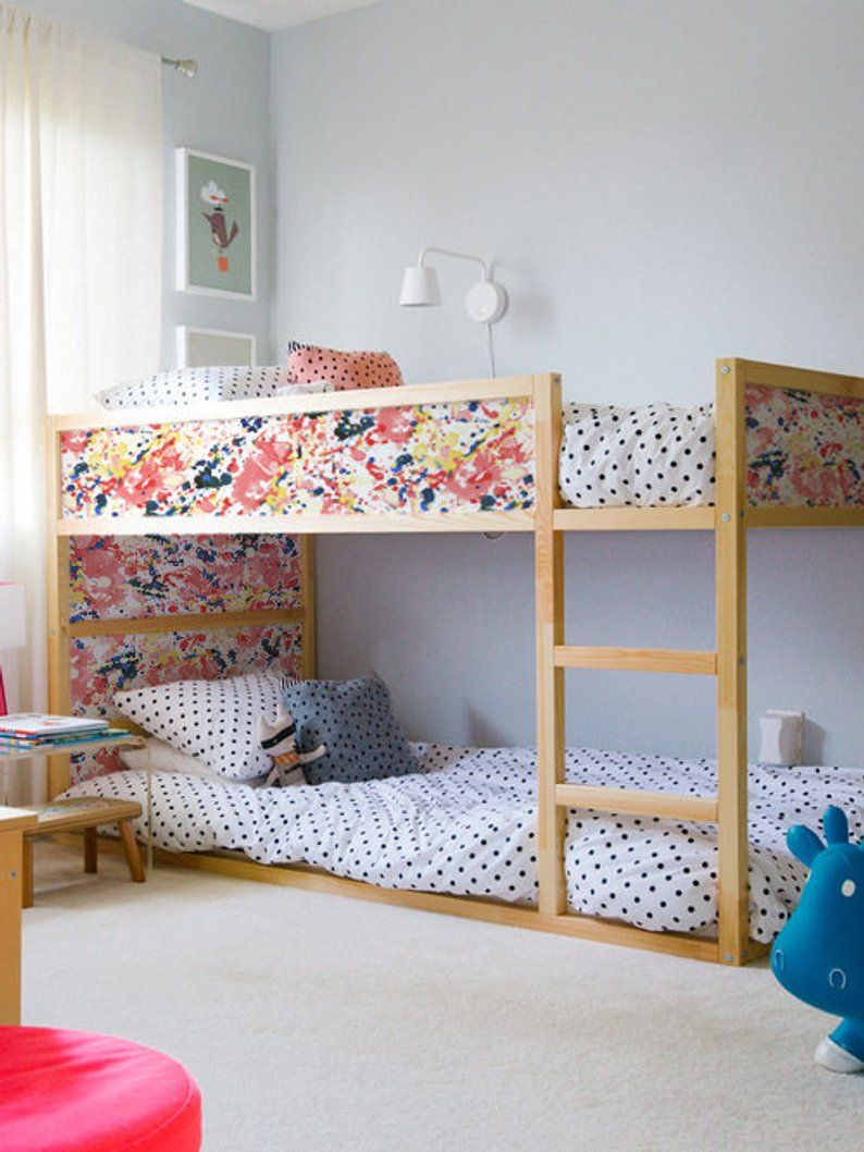 Ikea Kura Bed Removable Stickers Paint Stains Ikea Nursery Decals Furniture Stickers Furniture Decals Set Kids Decor K 25 Ikea Bunk Bed Ikea Kura Bed Cool Bunk Beds