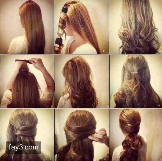 تسريح الشعر بالفير مجعد الشعر بطريقة جديدة تسريحات Hair Styles Hair Beauty Hair Inspiration