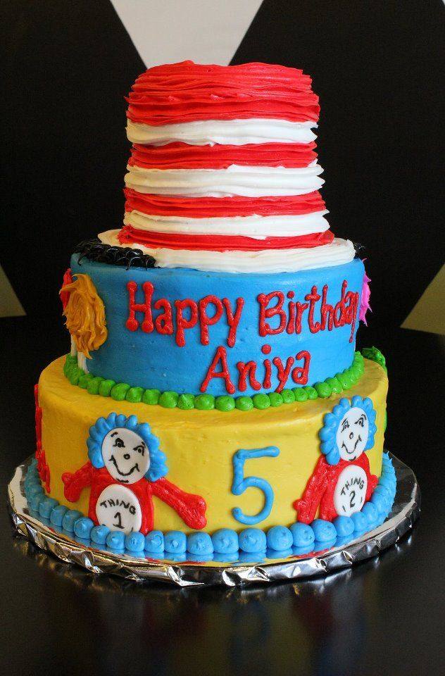 Dr Seuss Birthday Cake Halihanngans Cakes By My Wonderful Mother