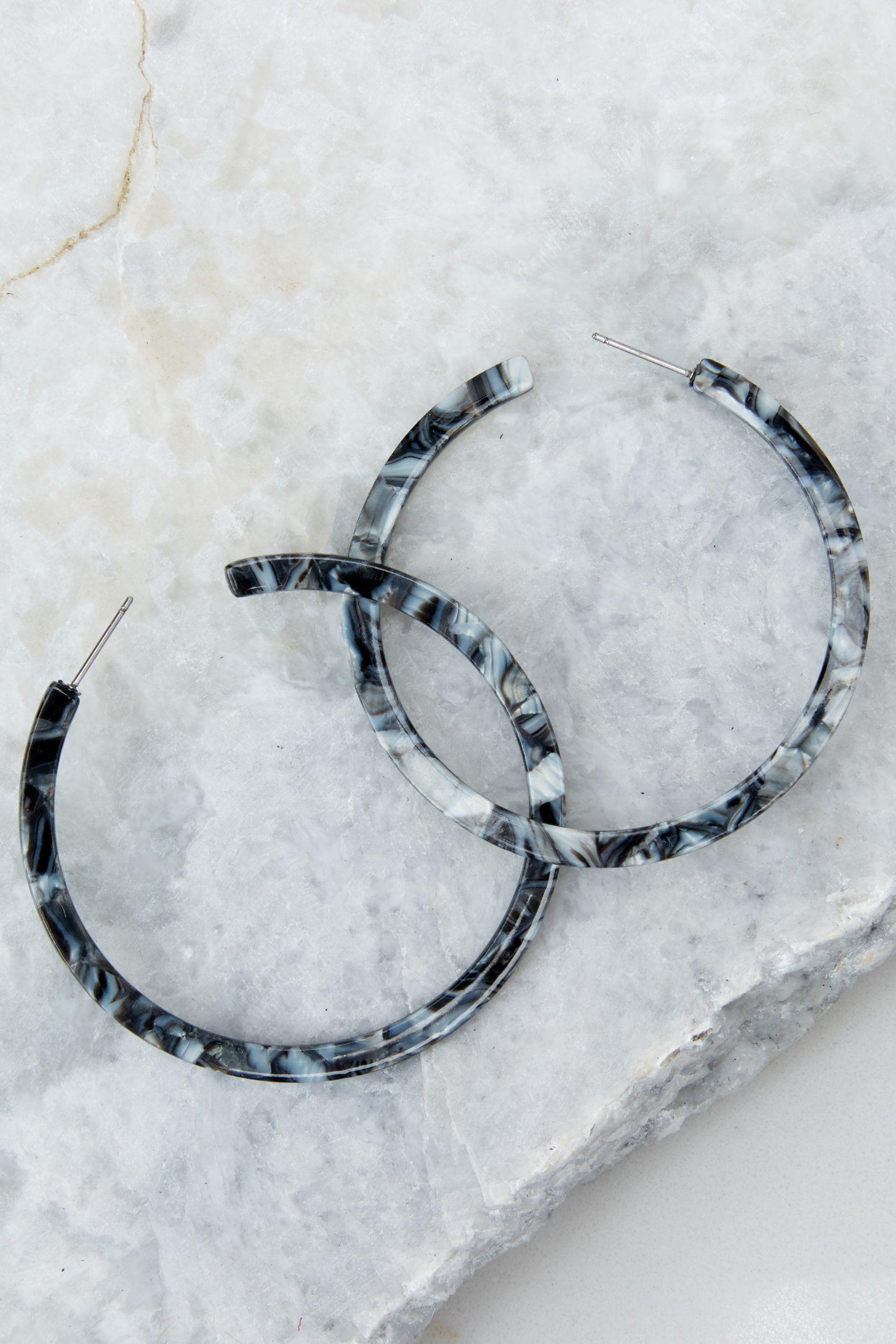 Nothing like it black tortoise hoop earrings in dressed to