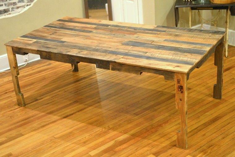 Cajas de madera usadas para fabricar muebles - 75 ideas | Mesa de ...