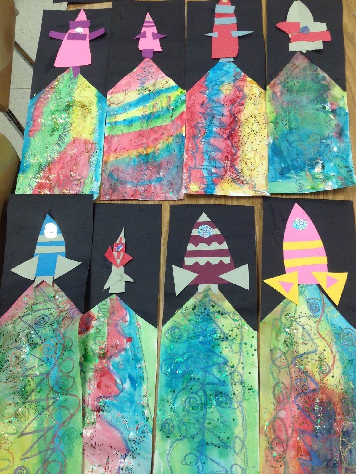 Art With Mr E Blast Off Kindergarten Mixed Media
