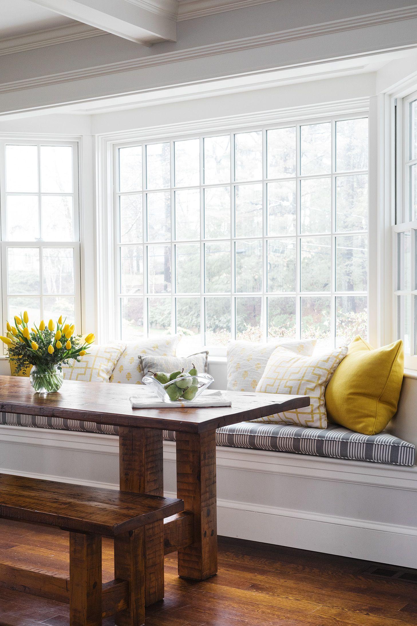 Window Seating Huffard House Interior Design Window Seat Kitchen Dining Room Windows Dining Bench Cushion