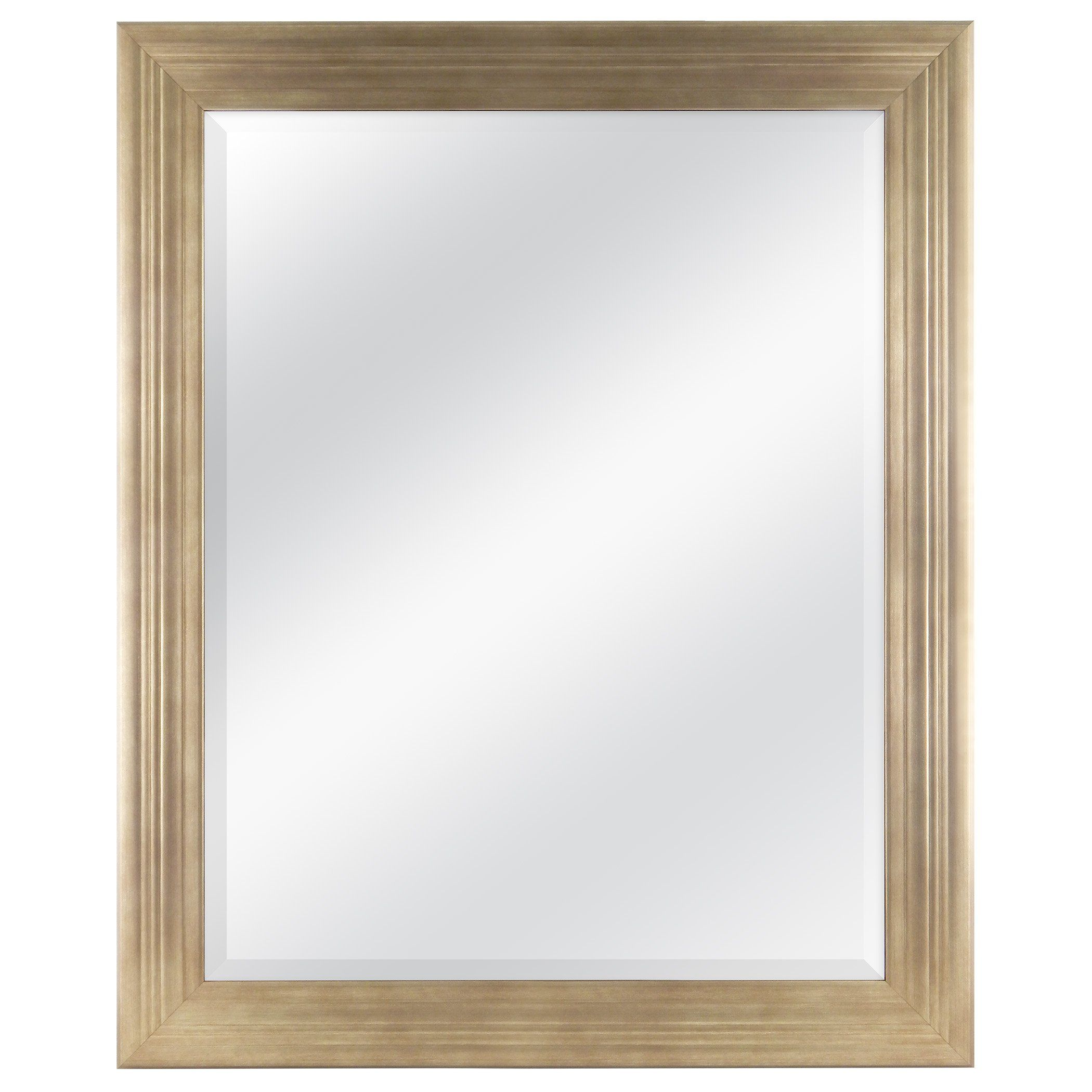 MCS 27x33 Inch Ridged Frame with 22x28 mirror, Brushed Gold (20584 ...