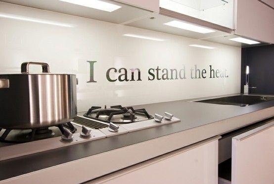 Küchenrückwand-Ideen-Küchenspiegel -wandtattoo | Küche | Pinterest ...