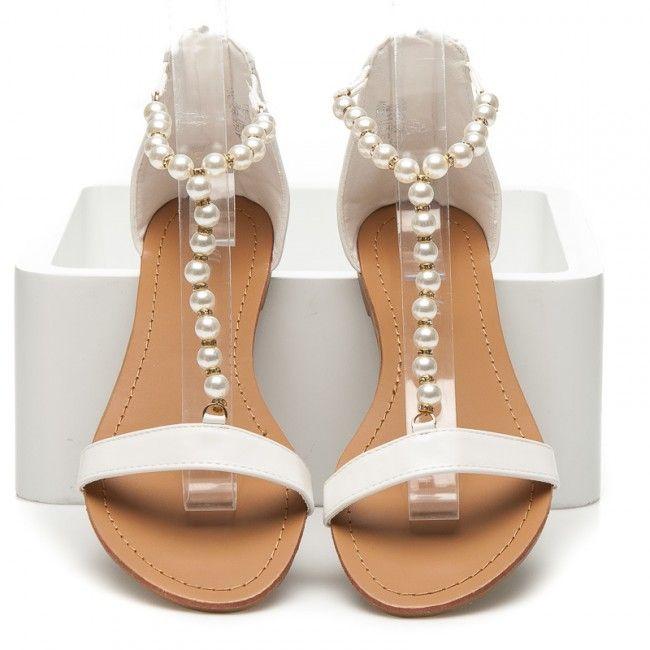 454bd3730248 Dámske biele sandále AB0092W