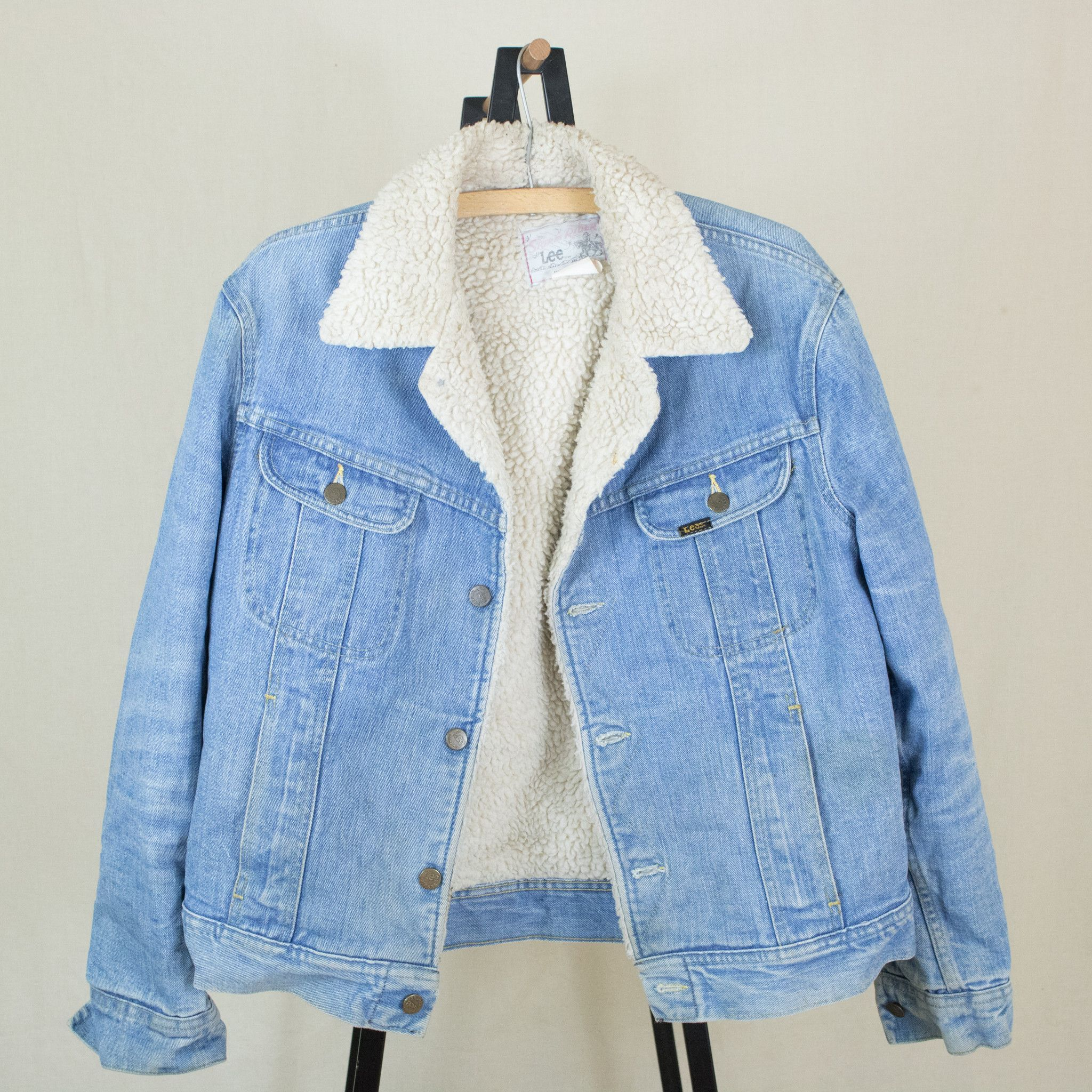 Vintage s lee storm rider denim sherpa jean jacket wear