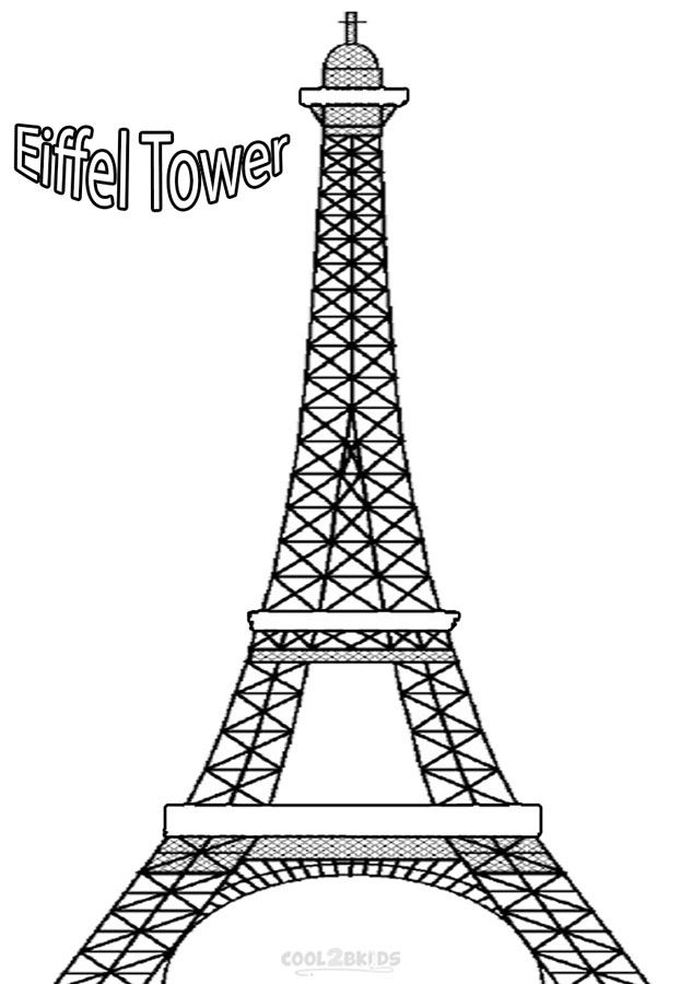 Printable Eiffel Tower Coloring Pages For Kids Cool2bkids Eiffel Tower Drawing Eiffel Tower Eiffel Tower Silhouette